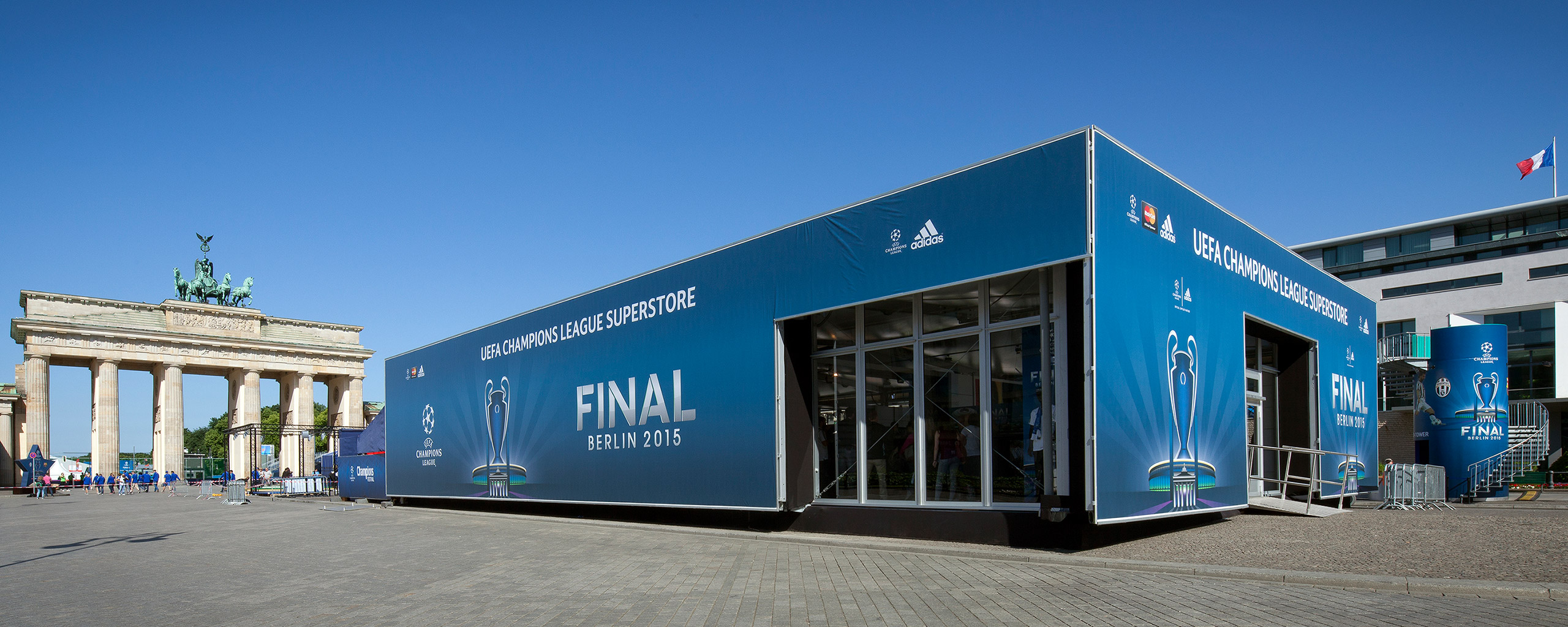 Adidas Merchandising Shop For the UEFA Champions League Final 2015 in Berlin